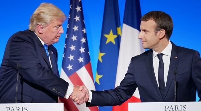 Trump ve Macron Kaşıkçı cinayetini görüştü