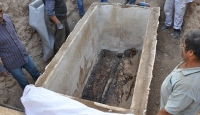 İznik'te Roma dönemine ait sandık tipi lahit bulundu