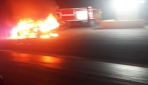 Karabükte kesilen cezaya kızan sürücü aracını yaktı