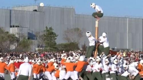 """Japonya'nın en sert sporu """"Botaoshi"""" okullarda oynatılıyor"""