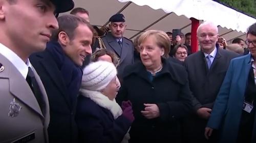 101 yaşındaki Fransız kadın Merkel'i Macron'un eşi zannetti