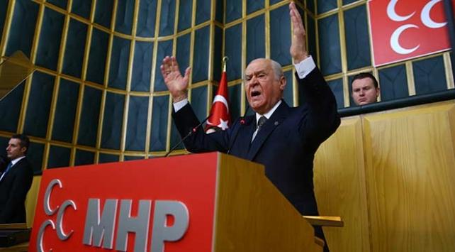 MHP Genel Başkanı Bahçeli: ABDnin teröristlere ödül koyması aldatmacadır