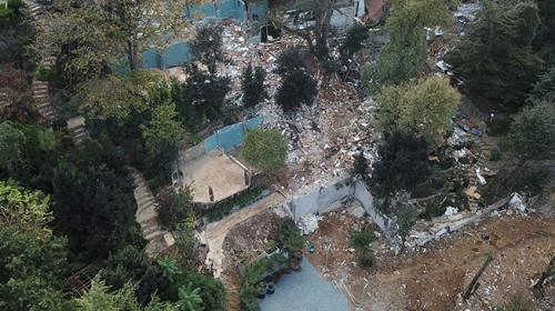 Adnan Oktar suç örgütünün villasında yıkım tamamlandı
