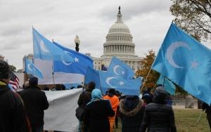 Uygur Türkleri Washingtonda Çini protesto etti