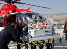 Solunum sıkıntısı yaşayan bebeğe ambulans helikopter desteği