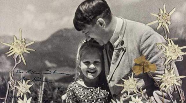 Hitlerin Yahudi bir kız çocuğuyla çekilmiş fotoğrafı açık artırmada