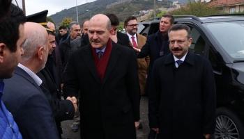Bakan Soyludan Abdullah Karacanın ailesine taziye ziyareti