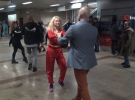 Dans yarışmasının son provasını Taksim Metrosu'nda yaptılar