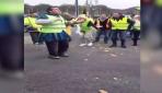 Fransadaki Sarı Yelekler eylemine Türklerden davullu zurnalı destek