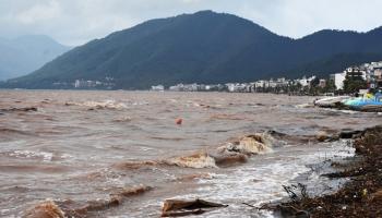 Marmariste aşırı yağışlar: 4 tekne battı