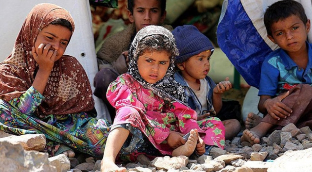 Yemende çocukların yüzde 80i insani yardıma muhtaç