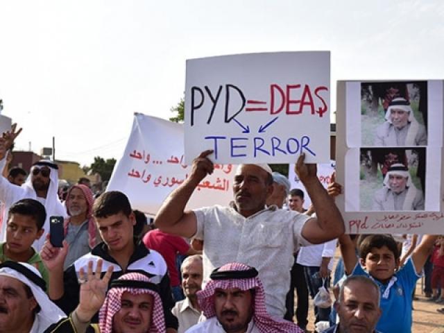 Hasekede terör örgütü YPG/PKKya karşı başlatılan gösteriler şiddetlendi