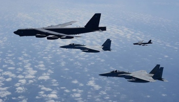 ABD bombardıman uçakları Güney Çin Denizinde