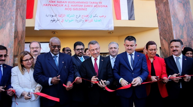 Türk Sudan Uluslararası Tarım ve Hayvancılık A.Ş.nin açılışı yapıldı