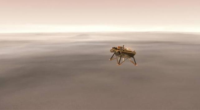 NASAnın uzay aracı Marsa iniş yapıyor