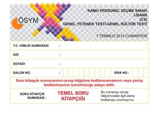 2012 KPSS Soru ve Cevapları Açıklandı