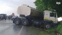 Freni Boşalan Tanker Dehşet Saçtı