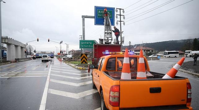 19 günün ardından Anadolu Otoyolu Kaynaşlı-Abant kavşakları ulaşıma açıldı