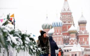 Moskovada kar yağışı