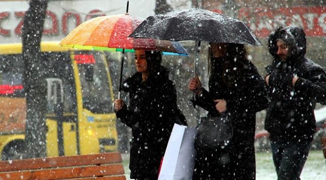 Marmarada karla karışık yağmur bekleniyor