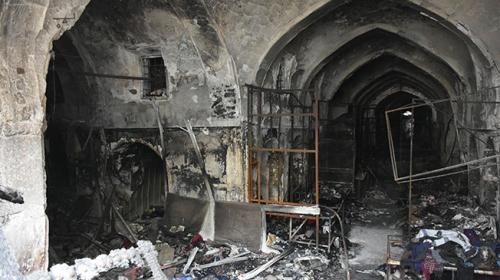TİKA Kerkükte yanan tarihi Kayseri Çarşısını onarıyor