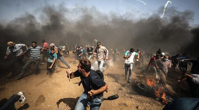 İsrail askerleri Gazze sınırında 33 Filistinliyi yaraladı