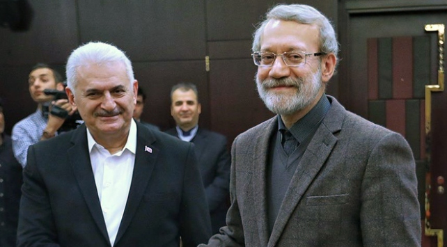 TBMM Başkanı Yıldırım İranlı mevkidaşı Laricani ile görüştü
