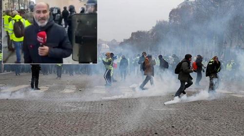 TRT Haber gerilimin tırmandığı Paris sokaklarında