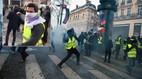 Fransada terör örgütü sempatizanlarından TRT Habere saldırı
