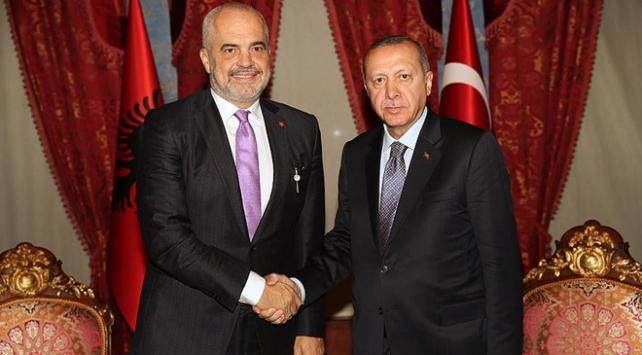 Cumhurbaşkanı Erdoğan Arnavutluk Başbakanı Ramayı kabul etti