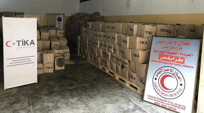 TİKAdan Libyada yerinden edilmiş ailelere yardım