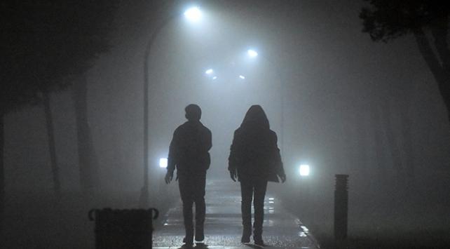 Manisada sis etkili oldu