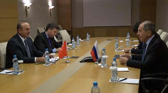 Dışişleri Bakanı Çavuşoğlu Rus mevkidaşı Lavrovla bir araya geldi