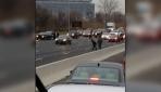 ABDde paralar otoyola saçıldı, trafik karıştı