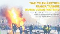"""Sarı Yelekliler""den Fransa tarihine damga vuran protesto"