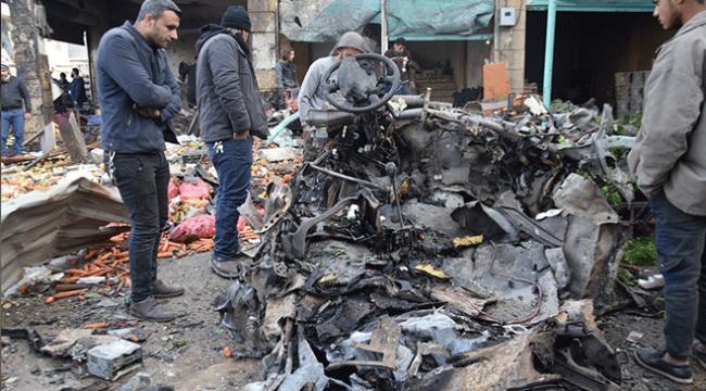Afrinde pazar yerine terör saldırısı: 4 sivil öldü, 20den fazla sivil yaralandı