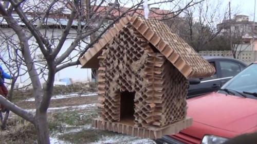 Erzincanlı minikler kar ve soğuğa karşı kuşlar için yuva yaptı
