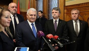 TBMM Başkanı Yıldırım, Macaristan Ulusal Meclis Başkanı Köver ile görüştü