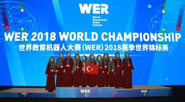 """Çindeki robot yarışmasında Konyalı öğrencilere """"en popüler takım"""" ödülü"""