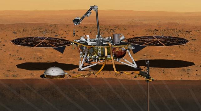 InSight Mars yüzeyine depremölçer indirdi