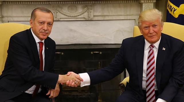 Cumhurbaşkanı Erdoğan, Trump ile Suriyeyi görüştü