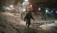 Ankara'da kar tatiline öğrencilerden teşekkür