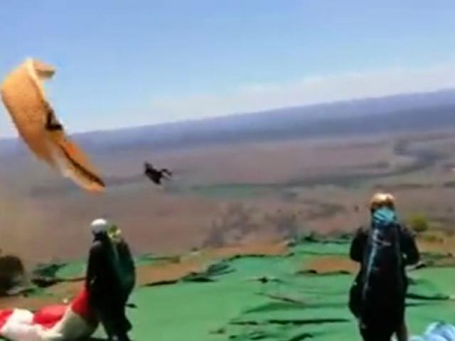 Hortuma yakalanan paraşütçü ölümden döndü