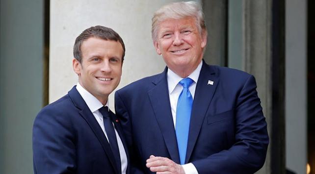 Trump, Macronla Suriyeden çekilme hakkında konuştu