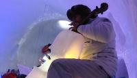 Buzdan enstrümanlarla sanat