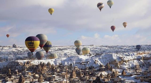 Kapadokyadaki turist sayısında rekor üstüne rekor
