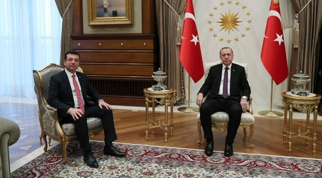 Cumhurbaşkanı Erdoğan, CHPnin İstanbul adayı İmamoğlunu kabul etti