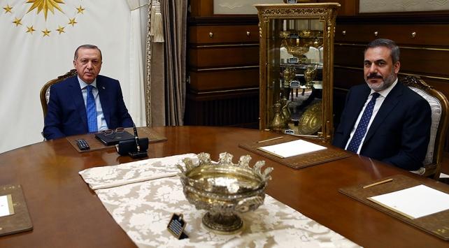 Cumhurbaşkanı Erdoğan MİT Başkanı Hakan Fidanı kabul etti