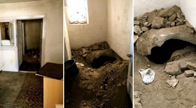 Kiraladıkları evde izinsiz kazı yapmışlar