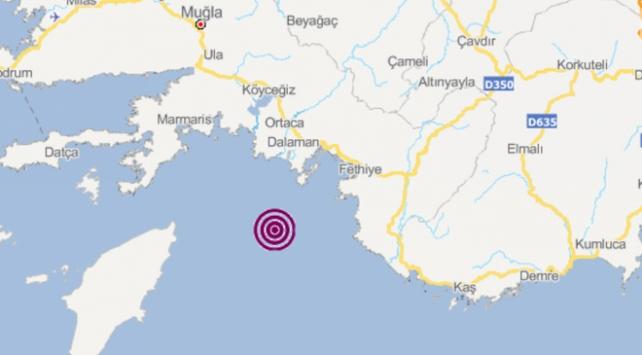Akdenizde 4 büyüklüğünde deprem